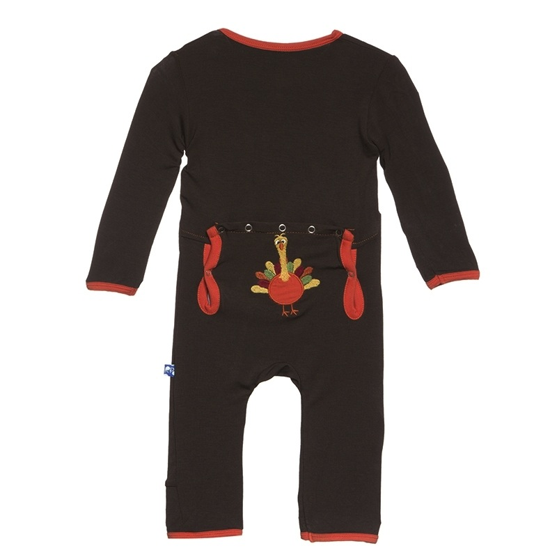 Bark Turkey Applique Coverall