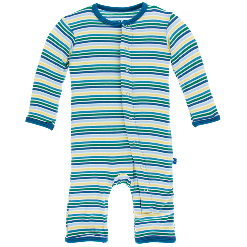 Boy Perth Stripe Coverall w/ Snaps