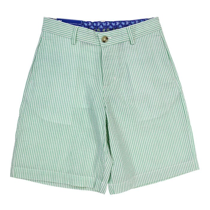 Summer Green Stripe Seersucker Pete Short