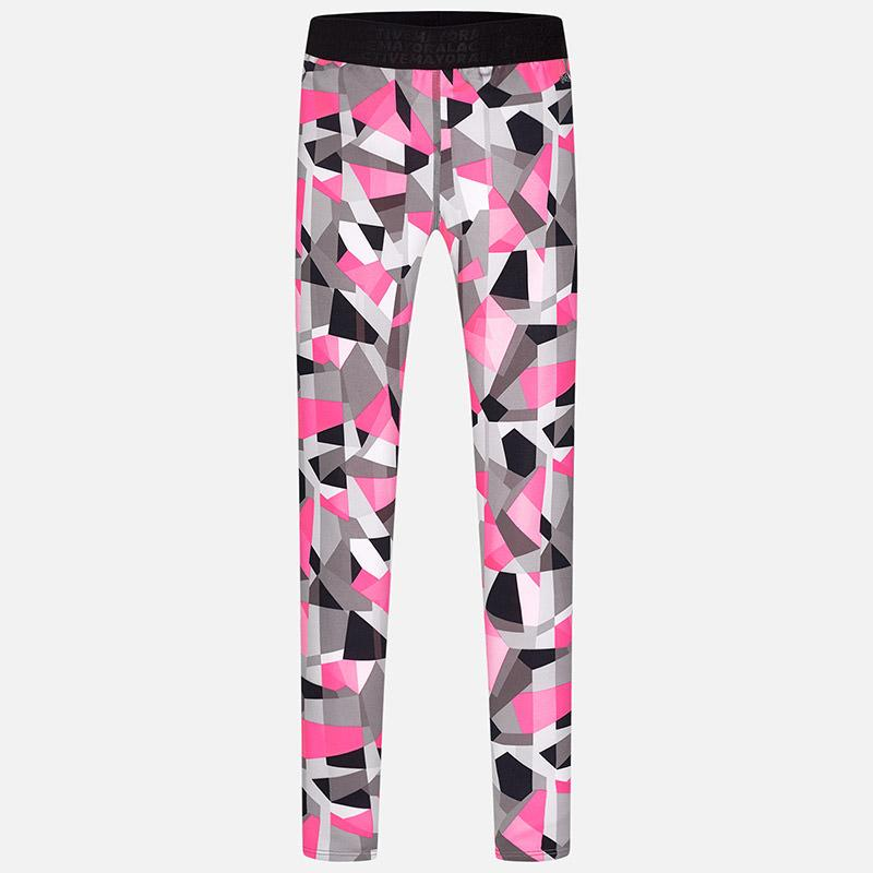 Hot Pink Geometric Leggings