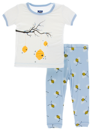 Pond Bees Short Sleeve Pajama Set