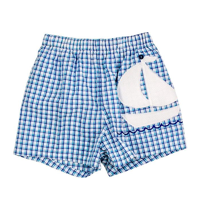 Ship Ahoy Swim Trunks