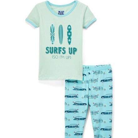 Shining Sea Woody Short Sleeve Pajama Set