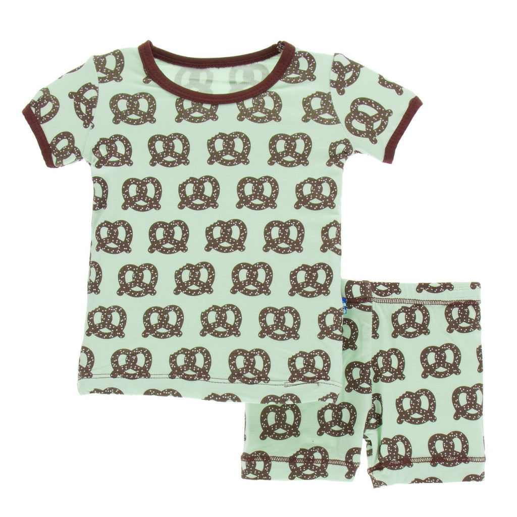 Giant Pretzel Short Sleeve Pajama Set with Shorts
