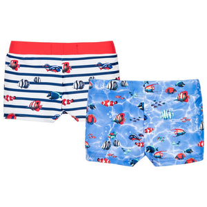 Fish Print Swim Shorts Set
