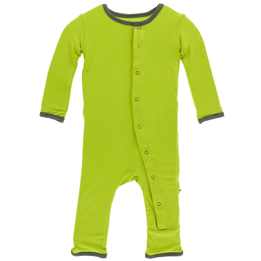 KicKee Pants Meadow Cow Appliqué Coverall with Snaps - kkgivingtree