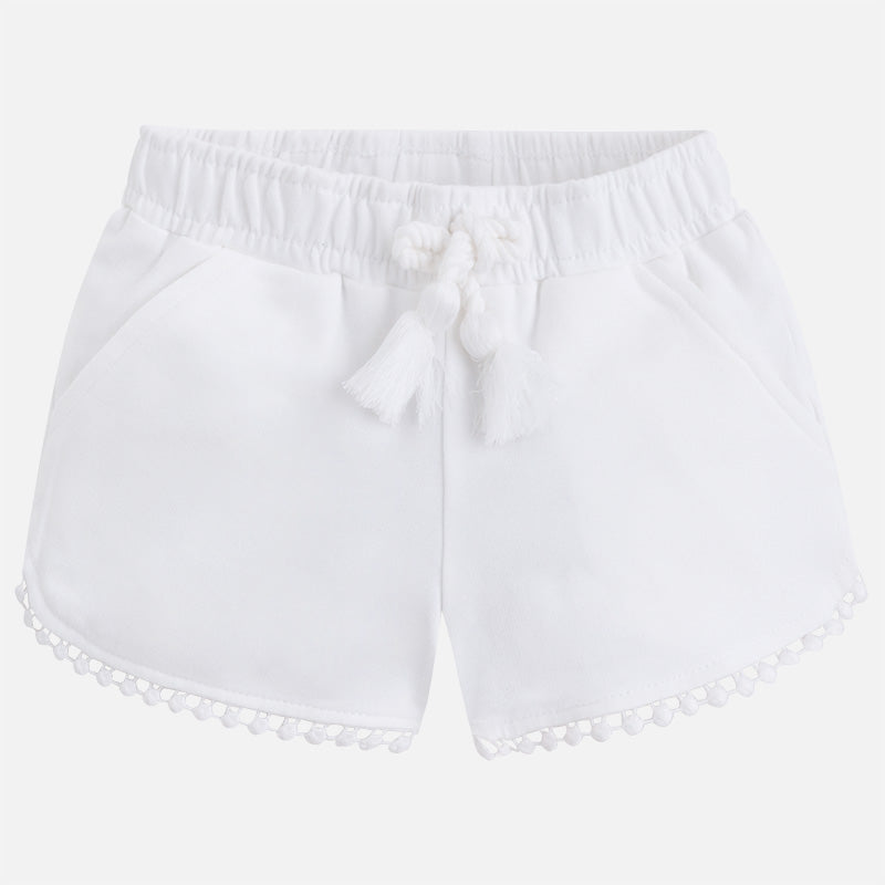 White Tassel Knit Shorts