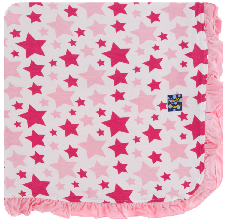 Flamingo Star Ruffle Toddler Blanket