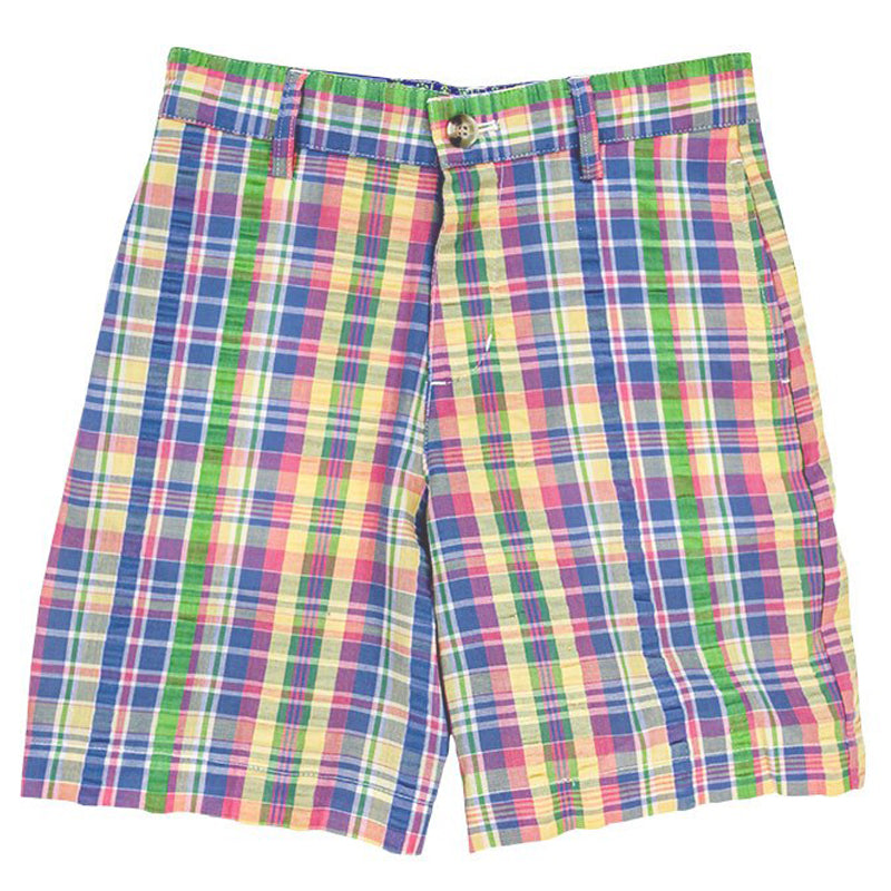 Pastel Plaid Seersucker Pete Short