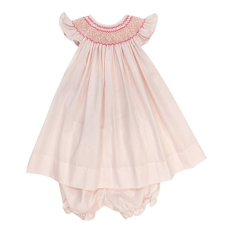Bailey Boys - Smocked Pink on Pink Bishop Dress with Bloomer - kkgivingtree - K&K's