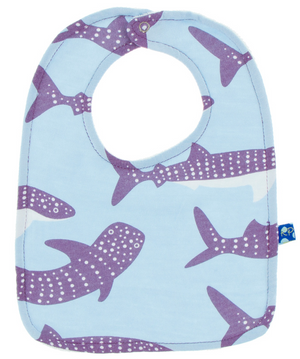 KicKee Pants - Bib Set of 3: Starfish Jellies, Seagrass Puffer, Pond Whale Shark - kkgivingtree