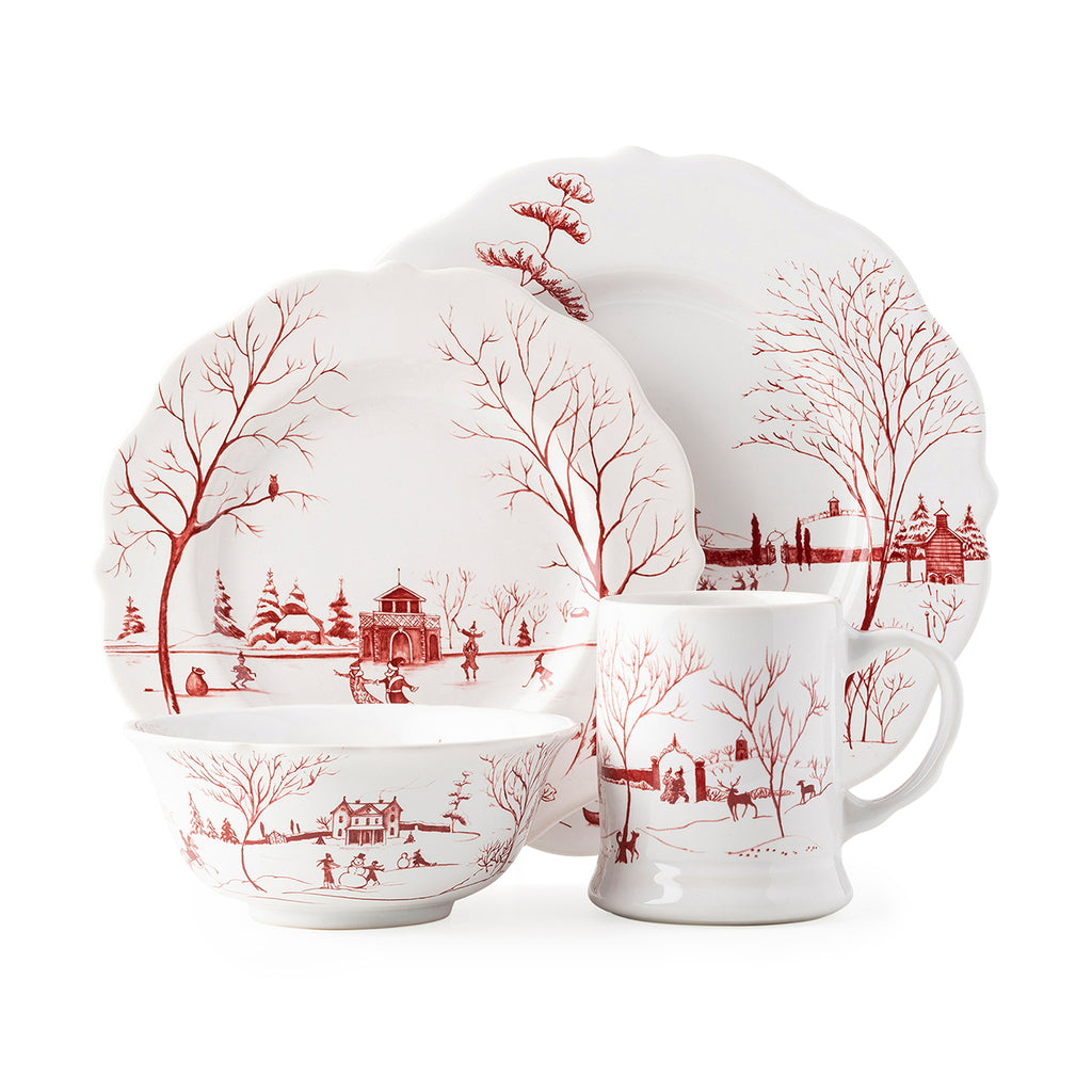 Country Estate Winter Frolic 4pc Setting Ruby