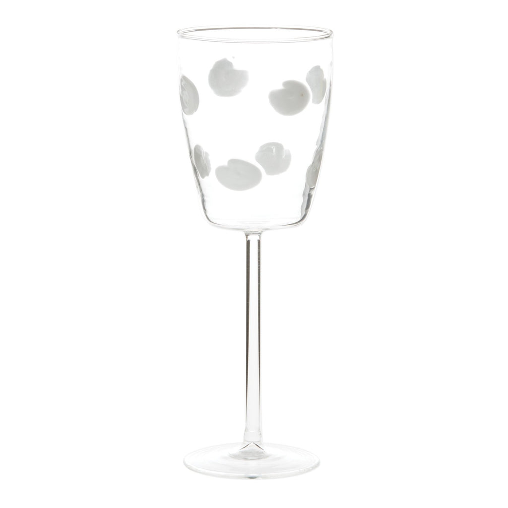 White Drop Wine Glass