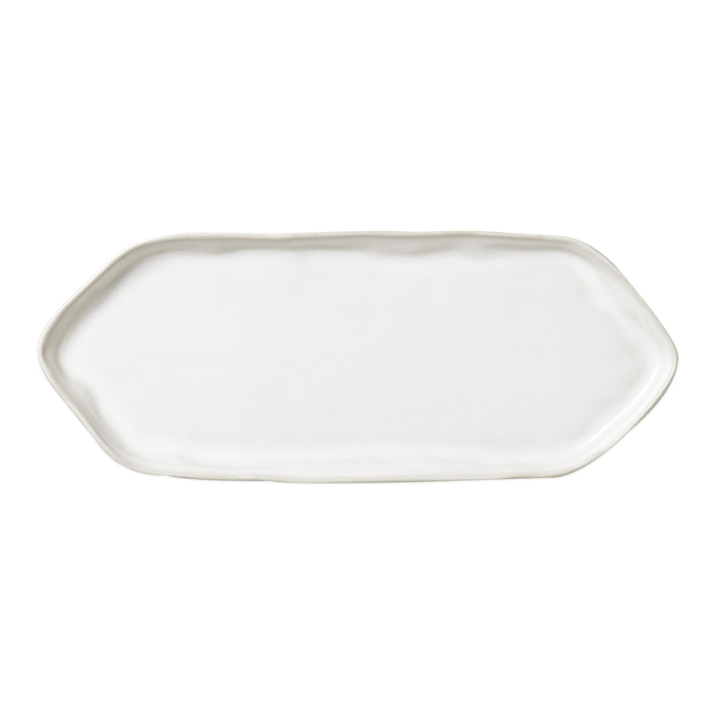 Forma Cloud White Rectangular Platter with Triangular Edges