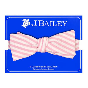 Parfait Pink Stripe Seersucker Bow Tie