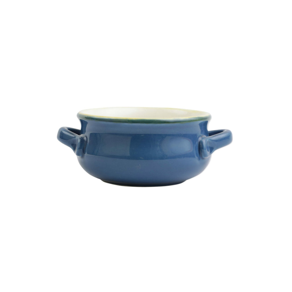 Italian Bakers Blue Small Handled Round Baker