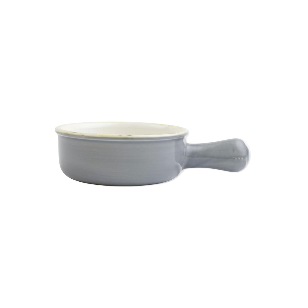 Italian Bakers Grey Small Round Baker w/ Large Handles