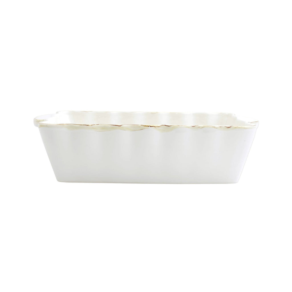 Italian Bakers White Medium Rectangular Baker