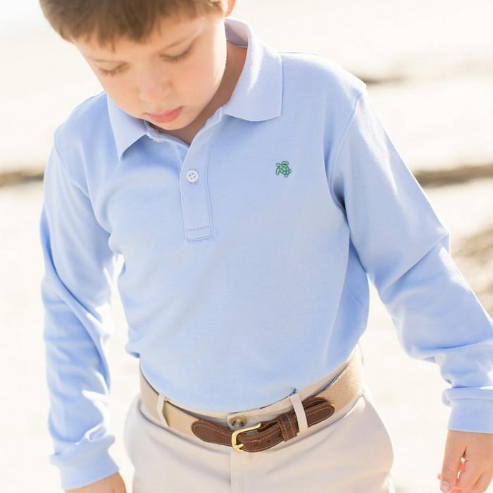 Harry Long Sleeve Polo - Sky