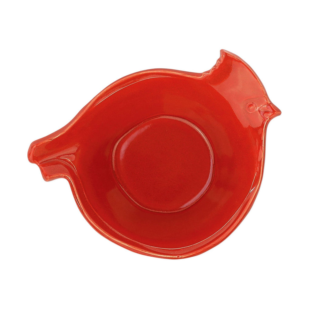 Lastra Holiday Figural Red Bird Medium Bowl
