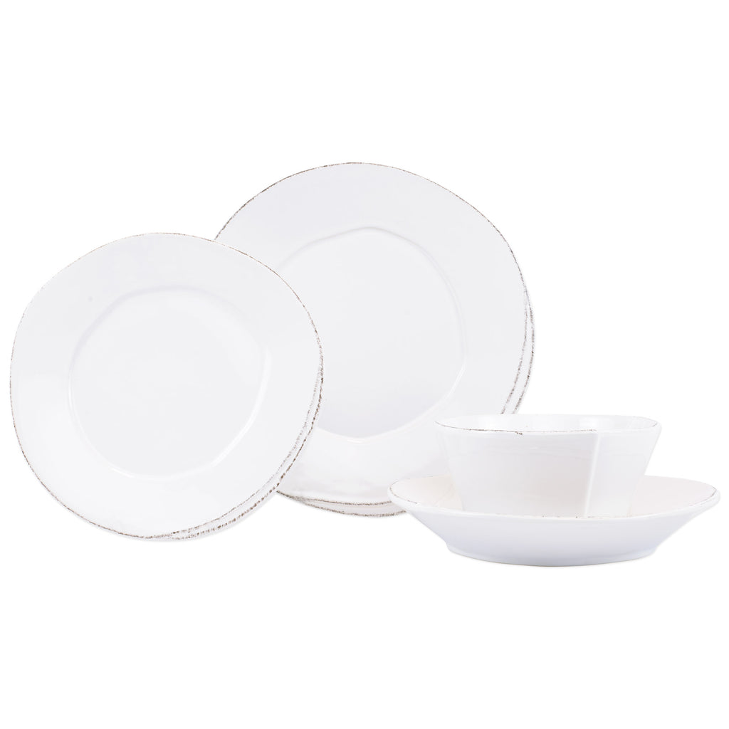 Lastra White Four - Piece Place Setting