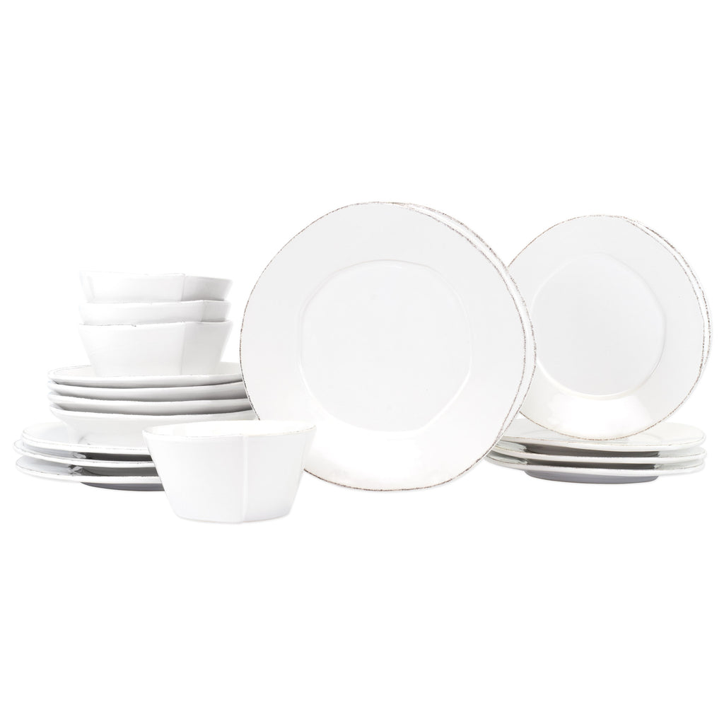 Lastra White Sixteen - Piece Place Setting