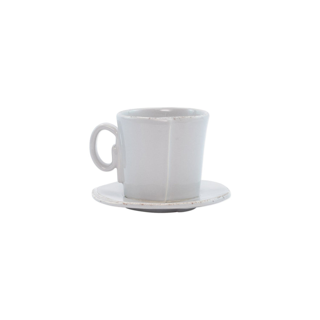 Light Grey Lastra Espresso Cup & Saucer