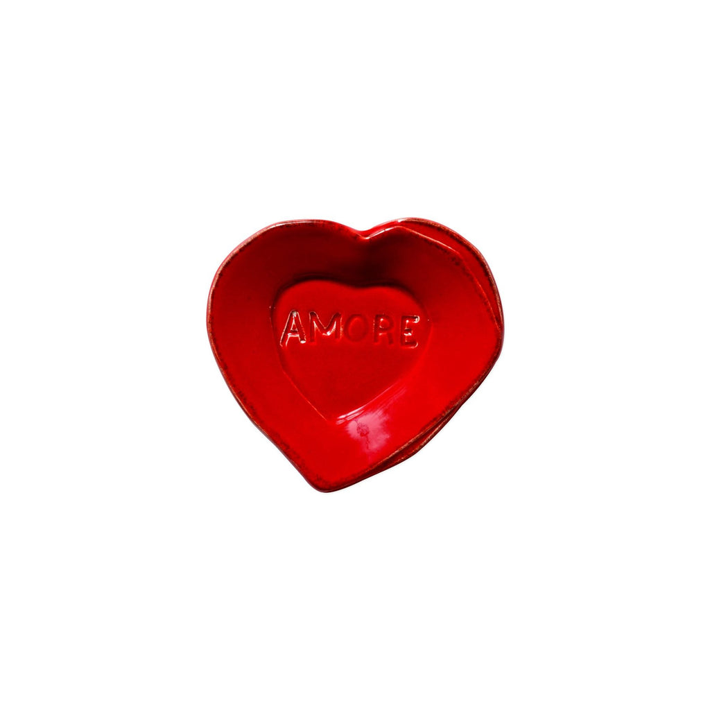 "Red Lastra Mini ""Amore"" Heart Plate"