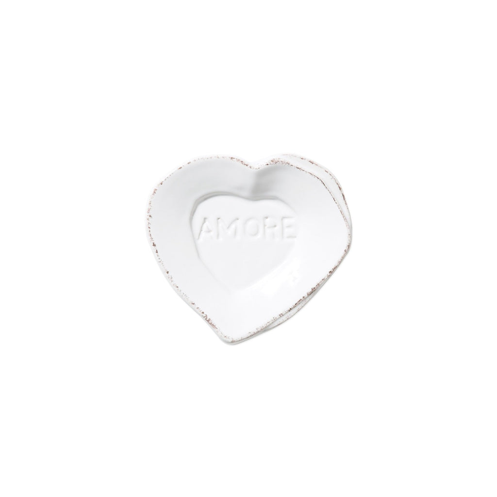"White Lastra Mini ""Amore"" Heart Plate"