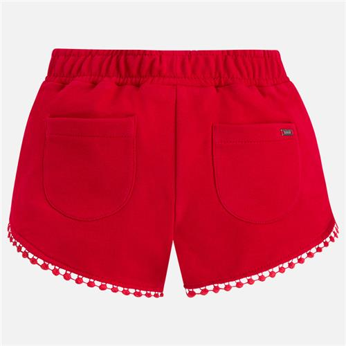 Red Tassel Knit Shorts