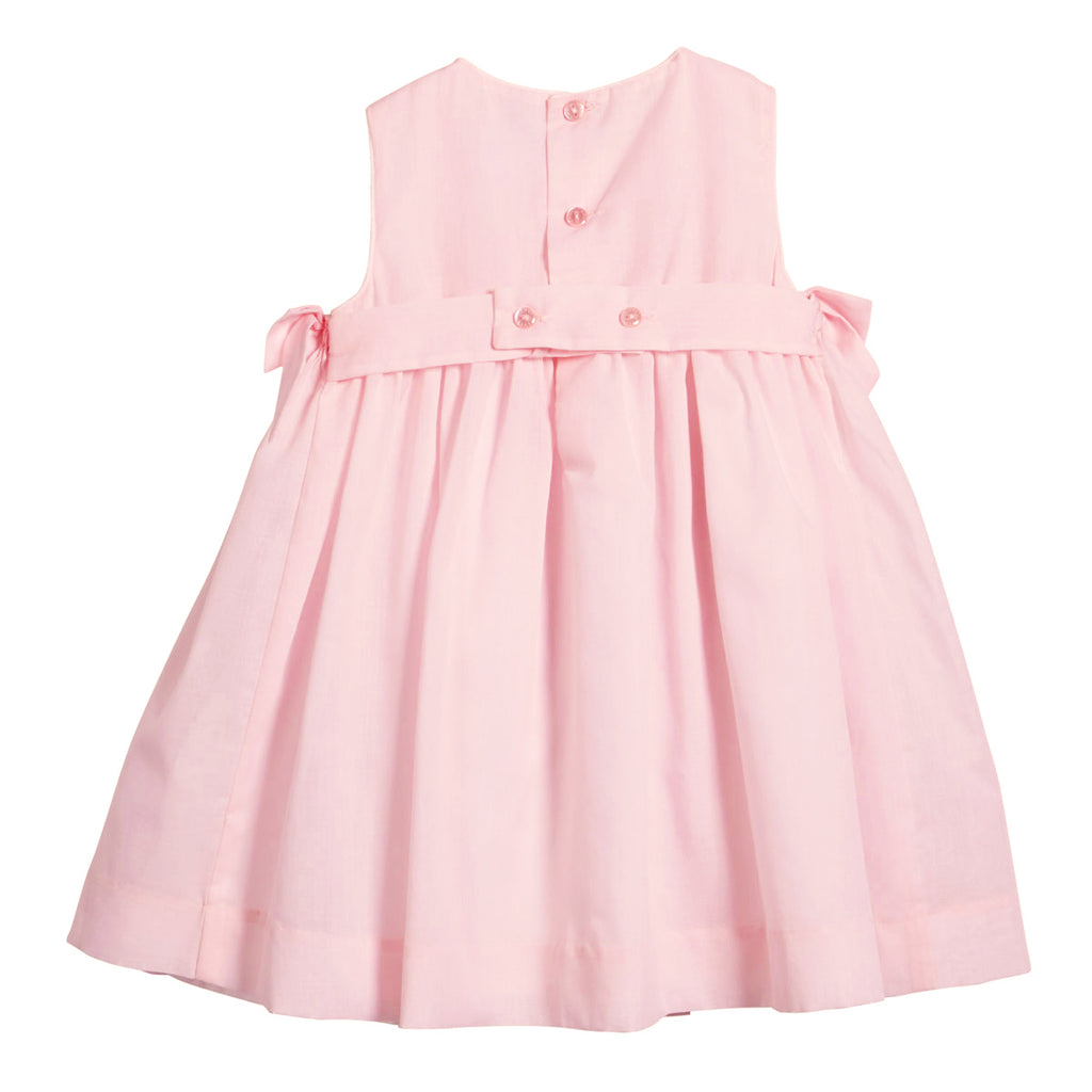 Pink Rosebud Smocked Dress with Side Bows