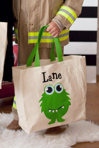 Monster Canvas Tote