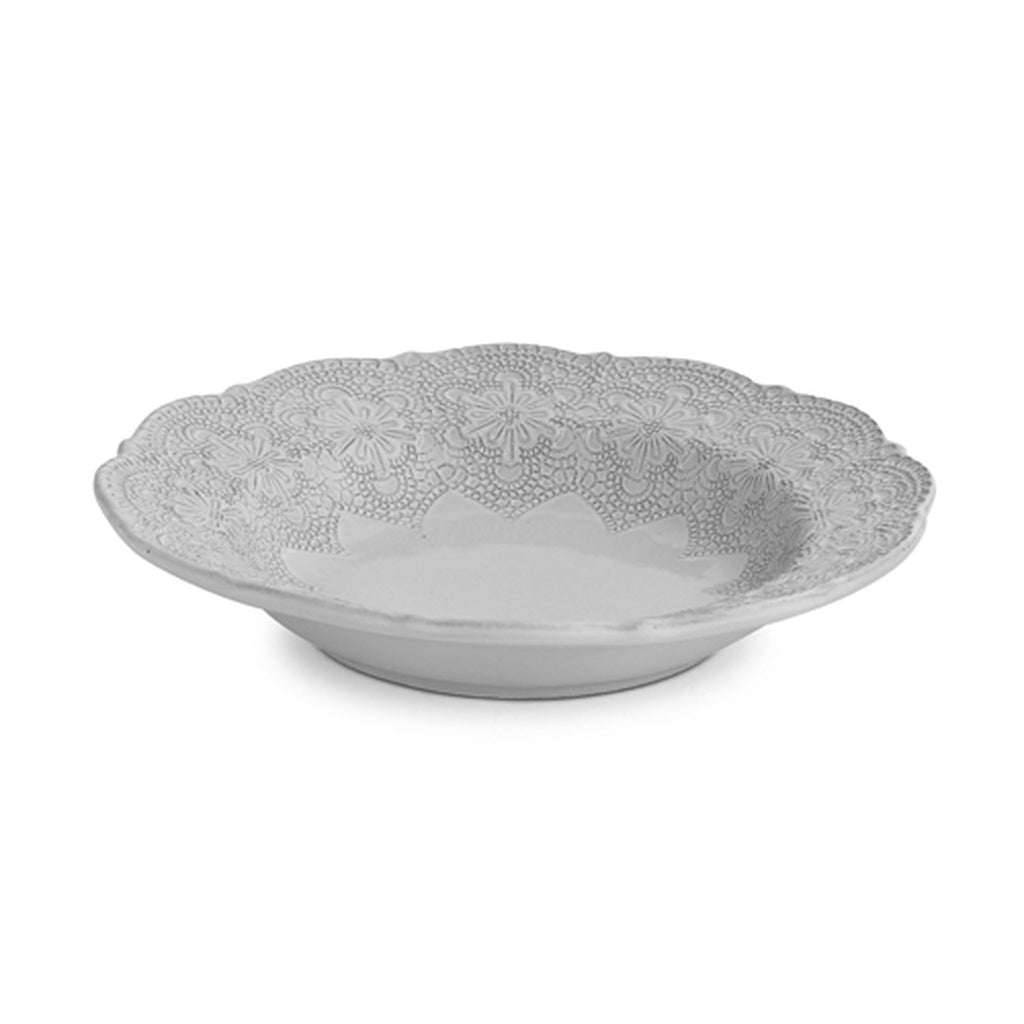 Merletto White Pasta/Soup Bowl