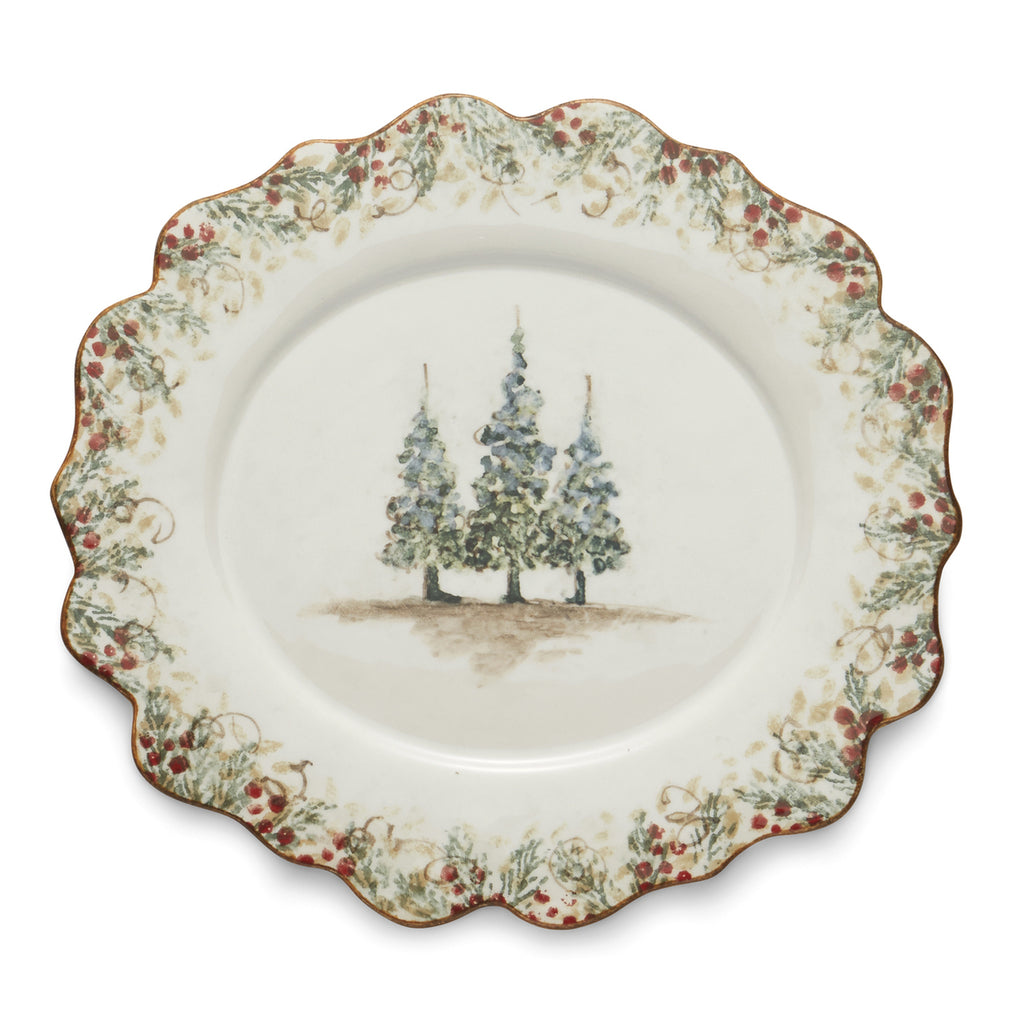 Natale Scalloped Oval Plate