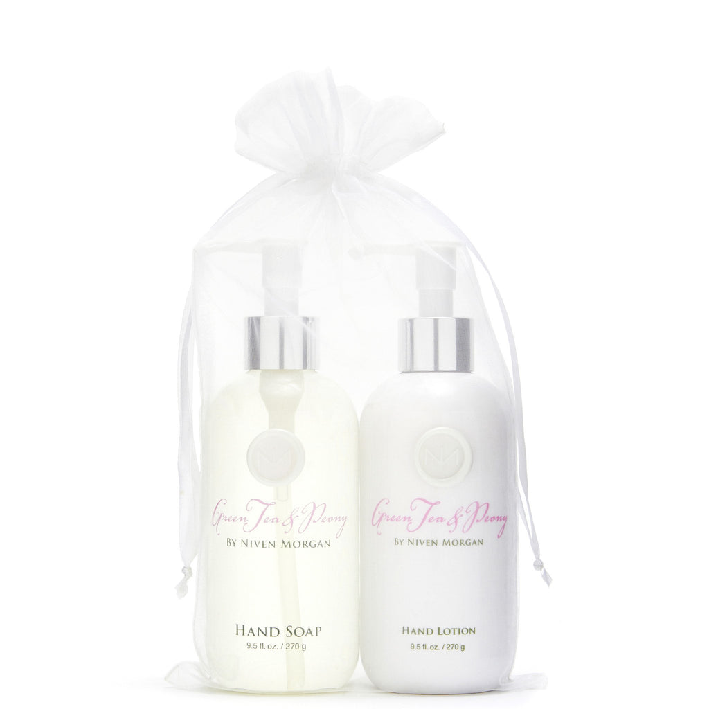 Green Tea & Peony Hand Lotion & Soap Set