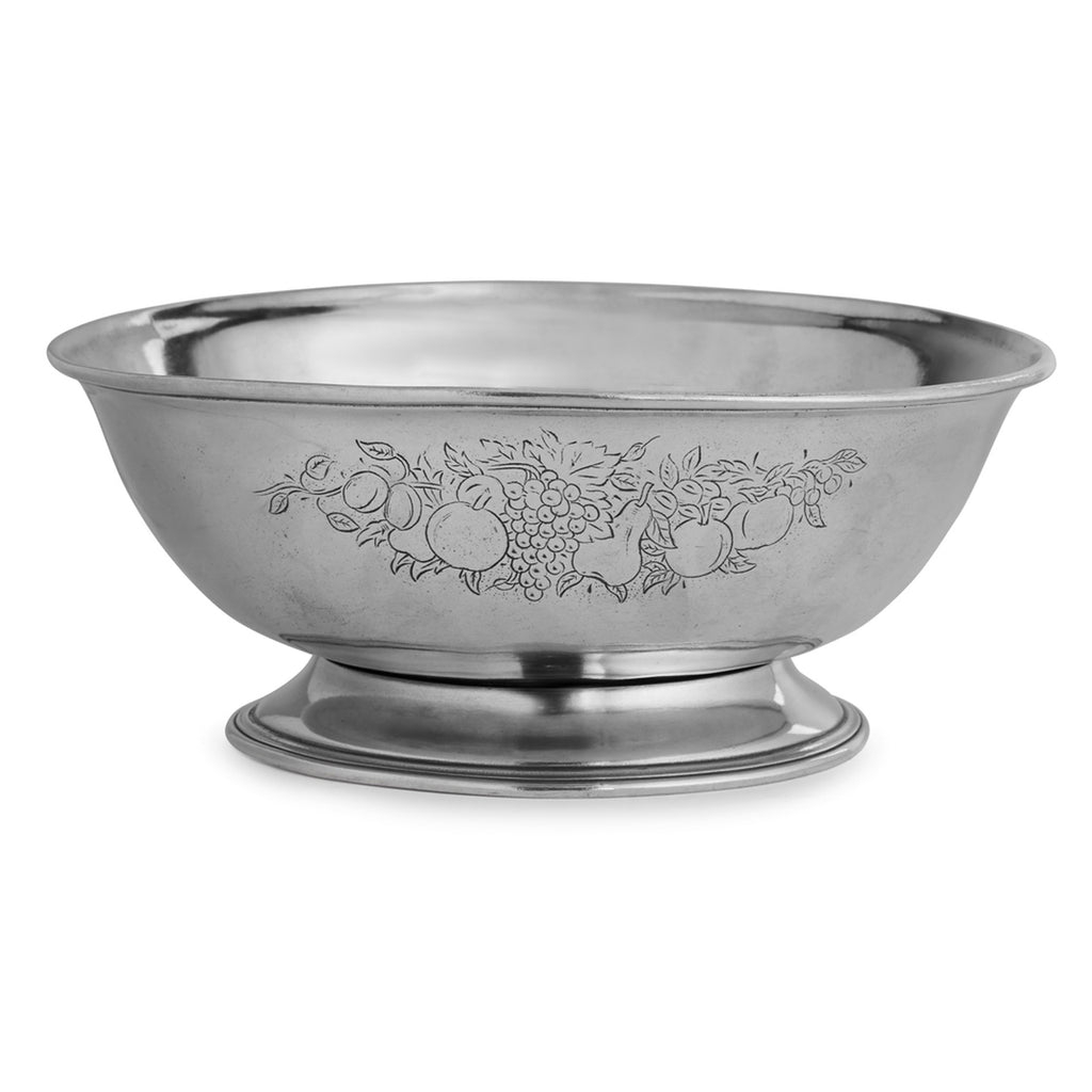 Peltro Footed Fruit Bowl