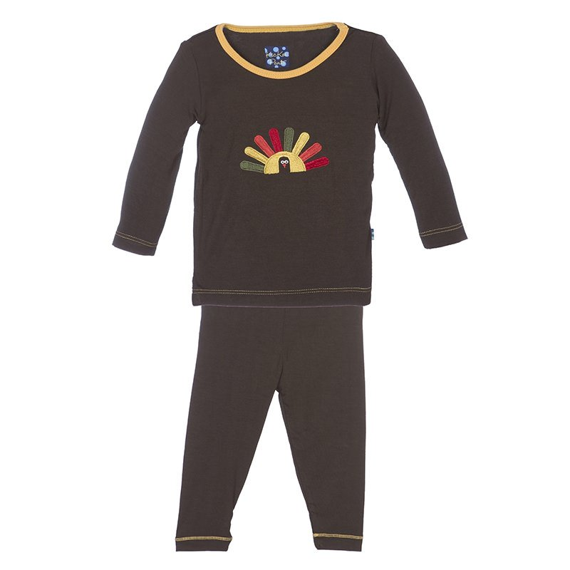 Bark Turkey Long Sleeve Pajama Set