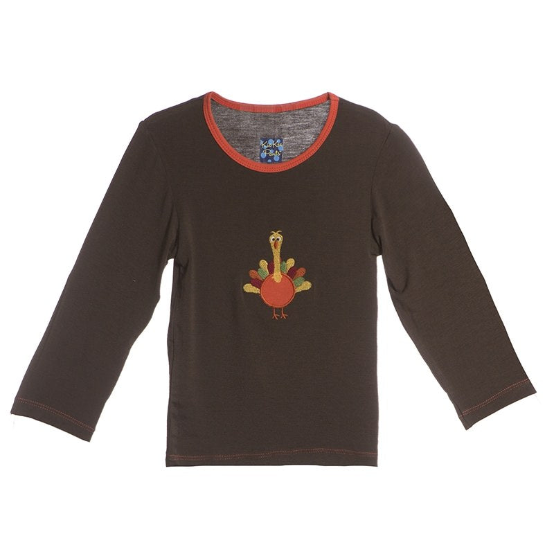 Bark Turkey Long Sleeve Applique Tee