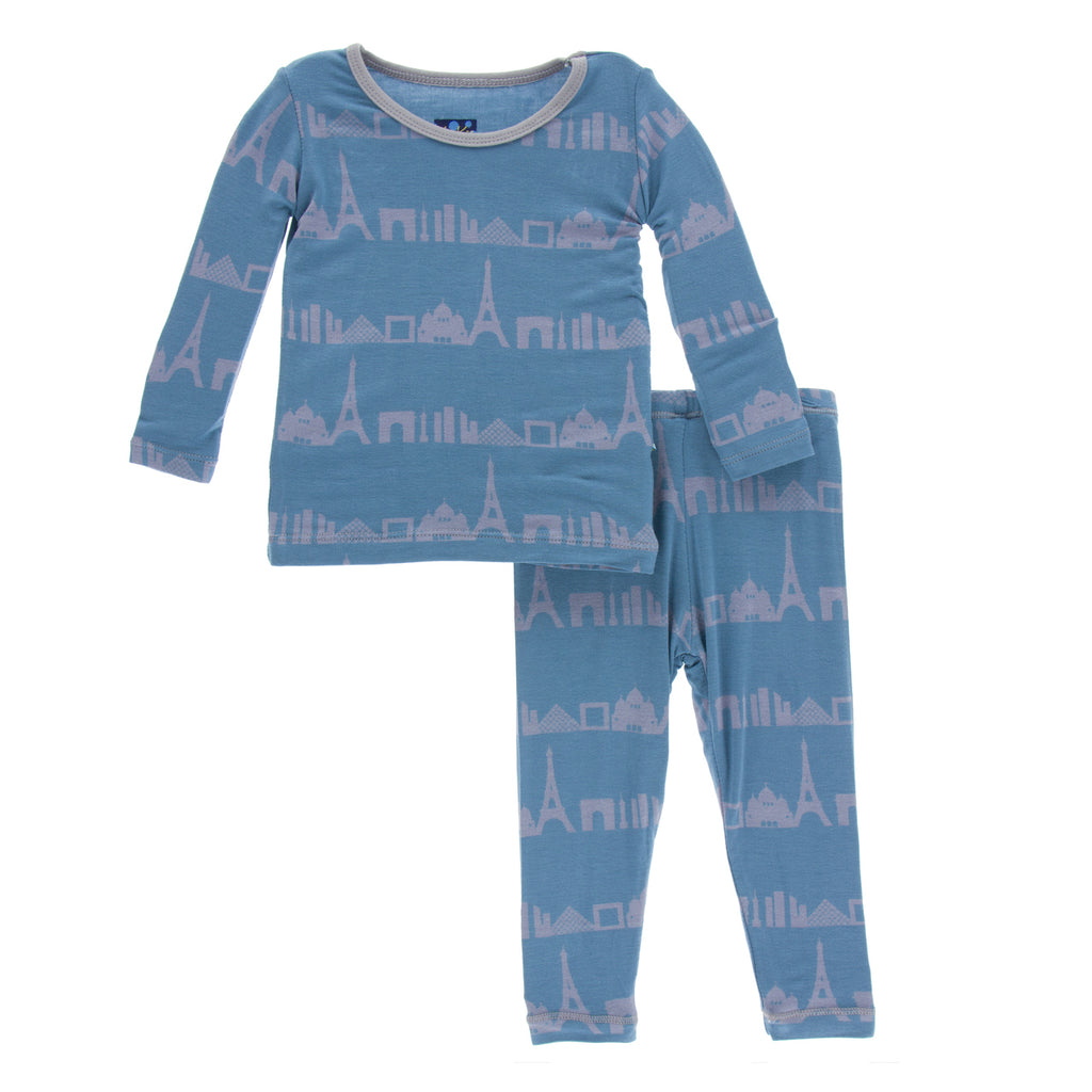 Parisian Skyline Long Sleeve Pajama Set