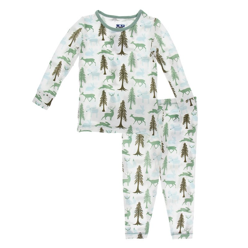 Natural Woodland Holiday Long Sleeve Pajama Set