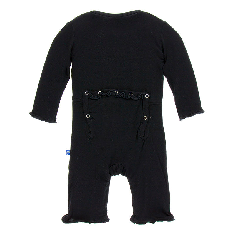 Midnight Muffin Ruffle Coverall w/ Snaps