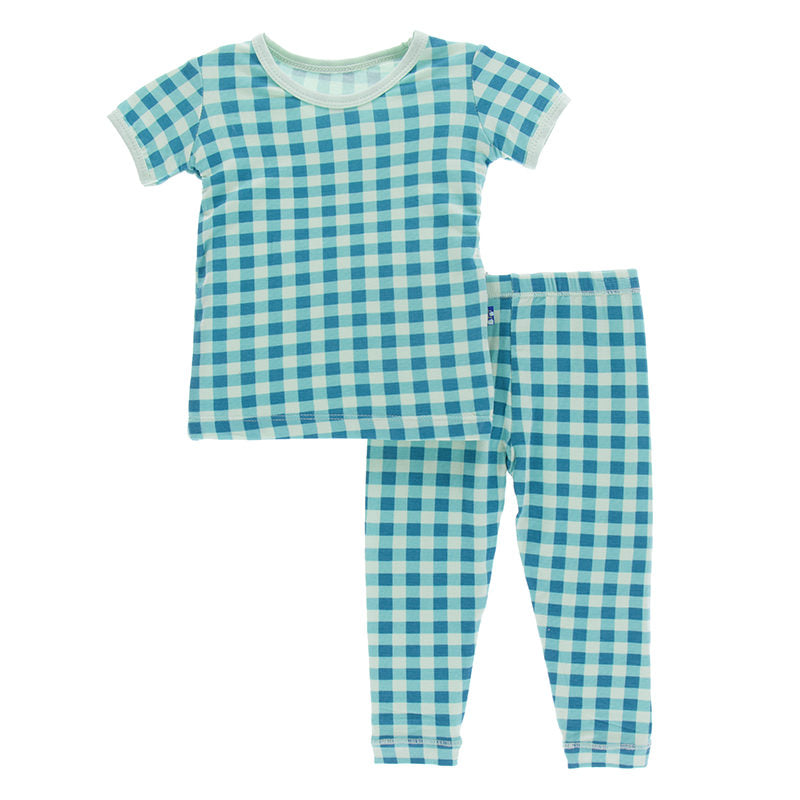 Pistachio Gingham Short Sleeve Pajama Set