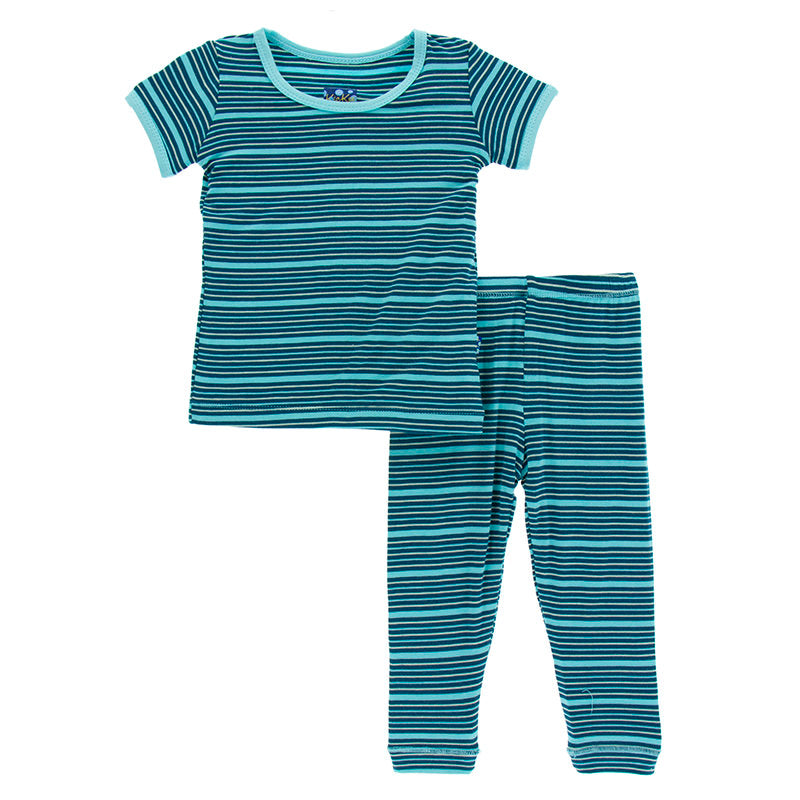 Shining Sea Stripe Short Sleeve Pajama Set