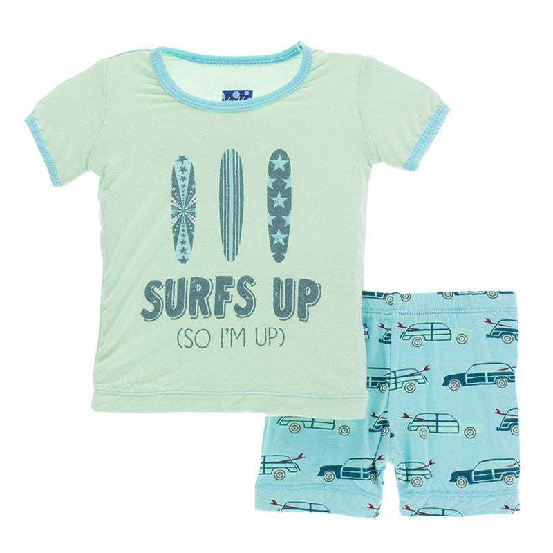 Shining Sea Woody Short Sleeve Pajama Set with Shorts