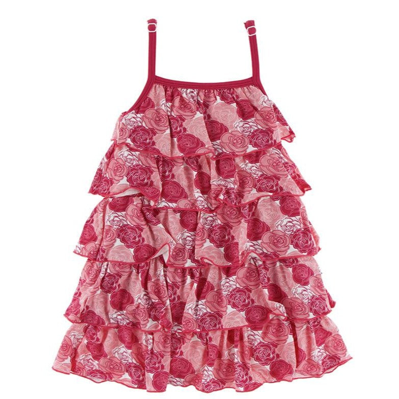 Roses Tiered Ruffle Dress