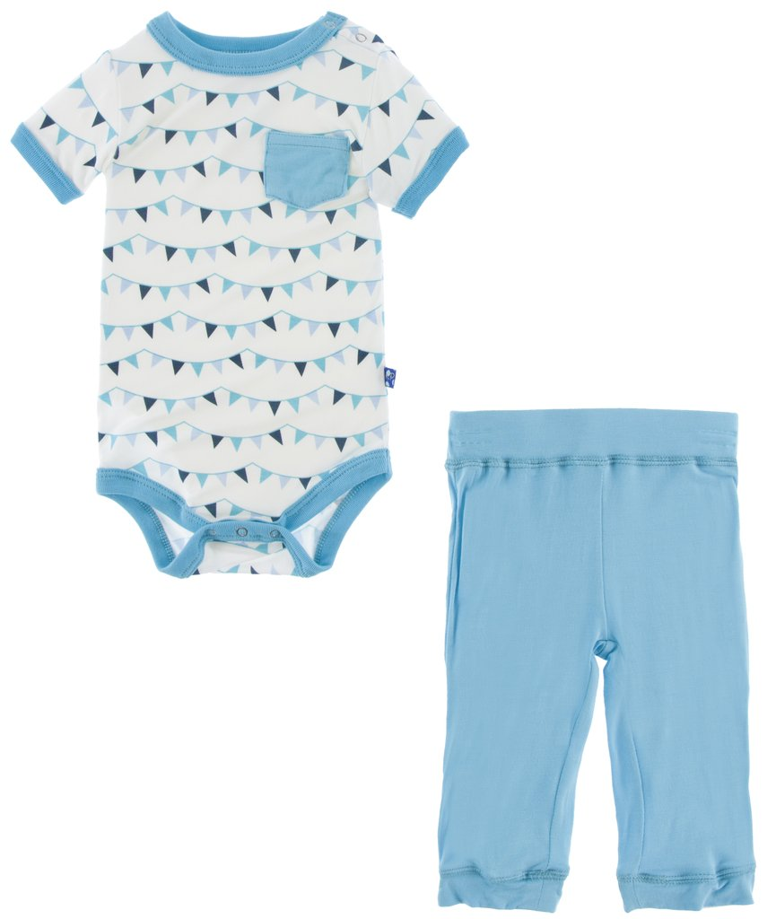 Confetti Party Flags One Piece Pocket Pant Set