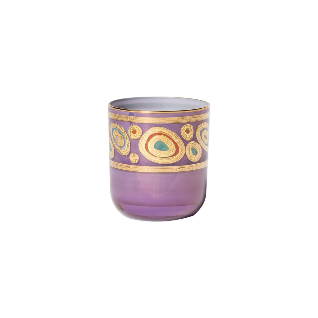 Regalia Purple Double Old Fashioned Glass