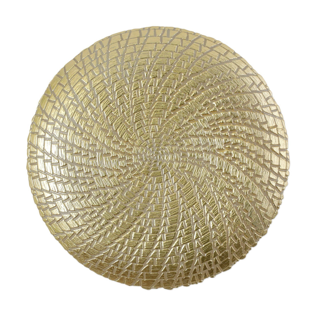 Rufolo Glass Gold Crocodile Service Plate/Charger