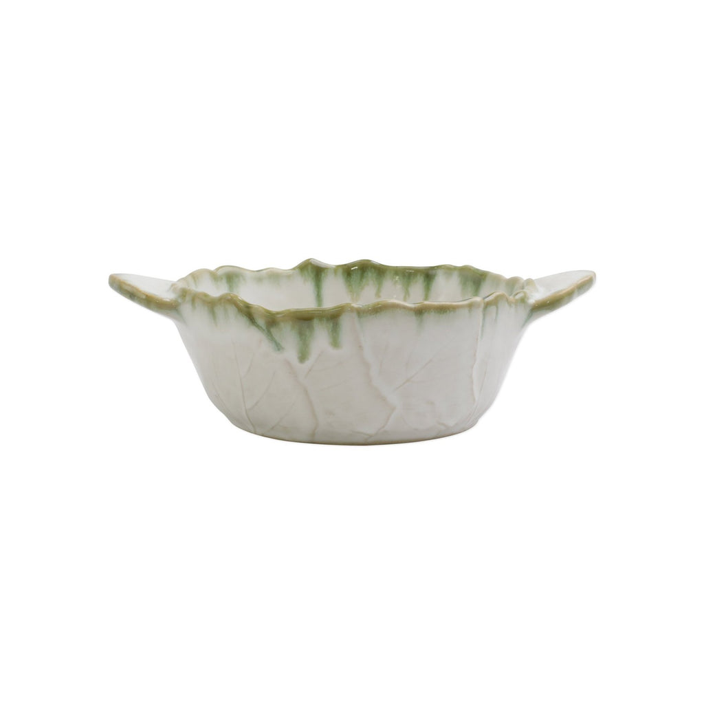 Foglia Stone White Handled Small Baker