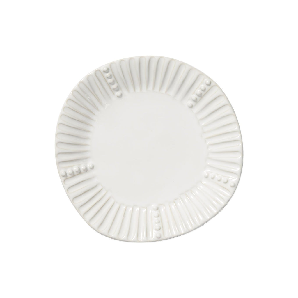 White Incanto Stone Stripe Salad Plate